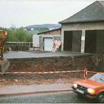 Verkleinerung des Koßmannschulhofs durch den Ausbau der Einmündung in die Schleidstraße 1987