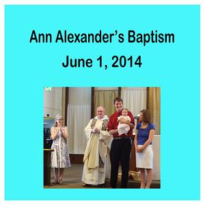 Ann Alexander's Baptism