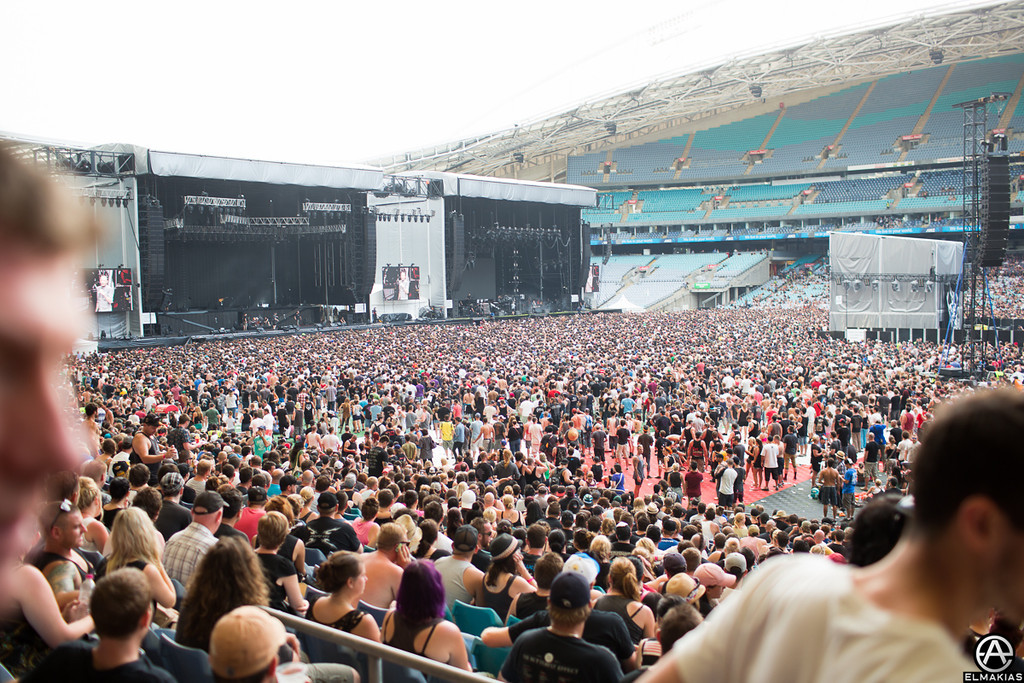 Linkin park crowd