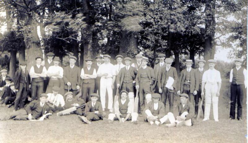 Spaldwick cricket team 19?? Provided by Elizabeth Smith