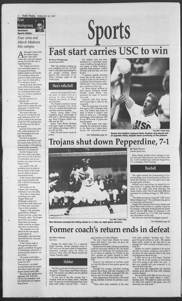 Daily Trojan, Vol. 130, No. 31, February 26, 1997