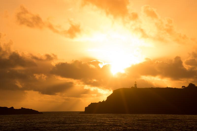 Lighthouse Morning Rays