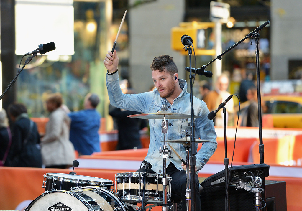 """. Ben Wysocki of the Fray performs on NBC\'s \""""Today\"""" at the NBC\'s TODAY Show on October 22, 2013 in New York, New York.  (Photo by Slaven Vlasic/Getty Images)"""