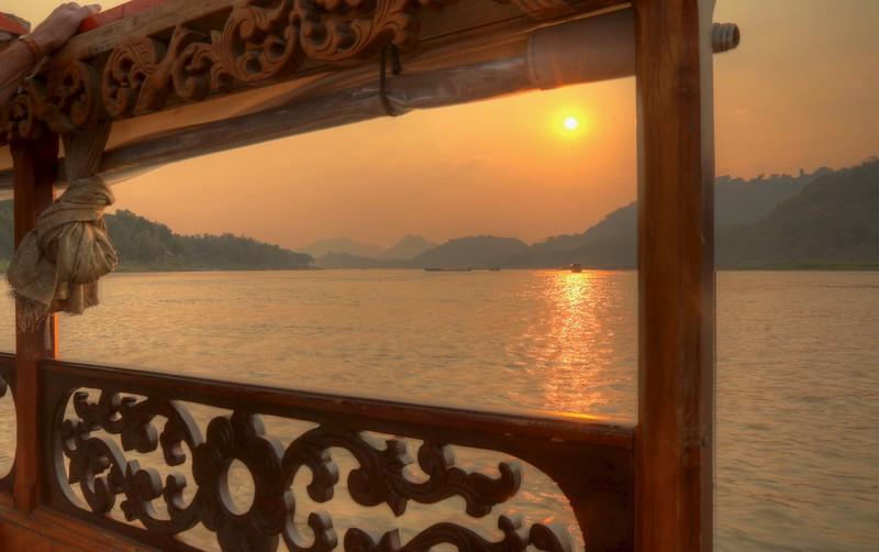 Sunset cruise on the Mekong River - Luang Prabang, Laos