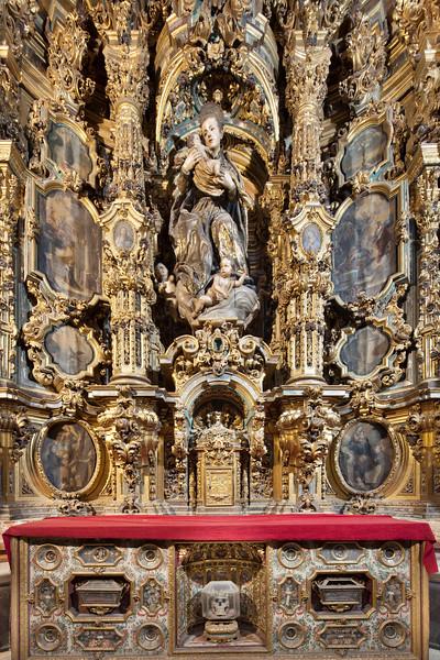 Altarpiece, San Luis de los Franceses church (18th century), Seville, Spain