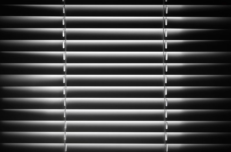 Abstract black and white shutter fragment. Background texture