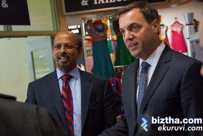 Ontario PC Leader Tim Hudak and some of our Tamil community members at the GTA Square