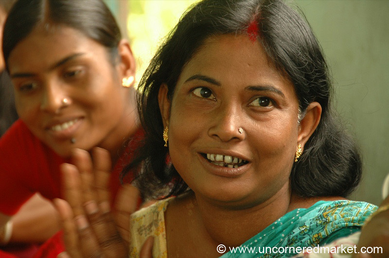 Indian Women at Microfinance Group - West Bengal, India