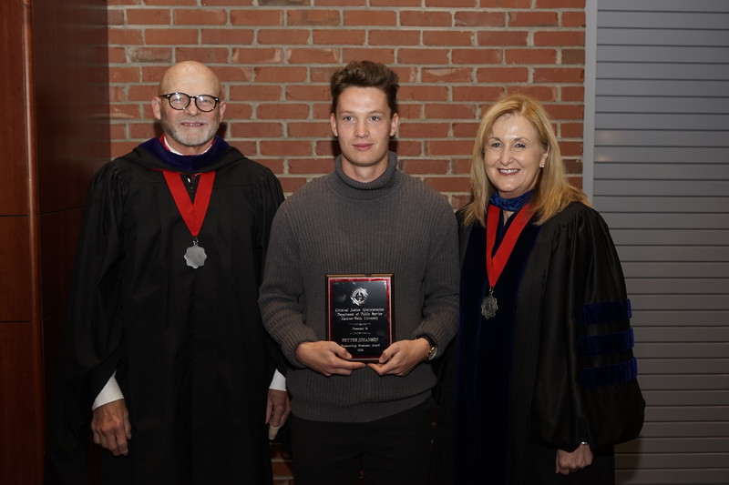 Pictures of award recipients at the academic awards
