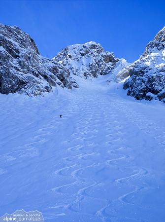 Liechelkopf ski tour, Kleinwalsertal 2014-02-28