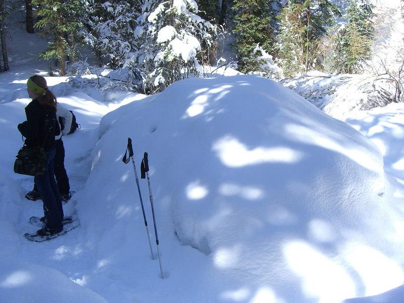 Hmm, a mound of snow.