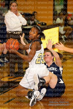 St Anthony's VS St Dominics, Girls Varsity Basketball 01.10.12
