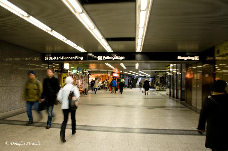 Rushing through the Vienna Metro