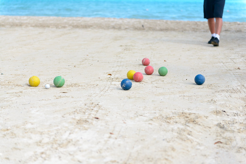 Bocce on the beach!