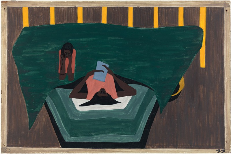 """Jacob Lawrence, """"The Migration of the Negro No. 33"""" (1941)"""