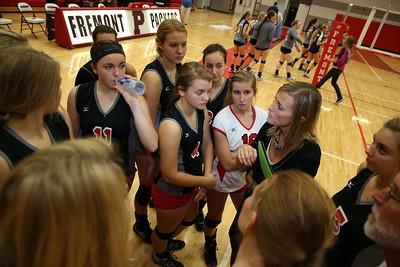 Girls Varsity Volleyball - 10/6/2015 Fruitport (Parent Night)