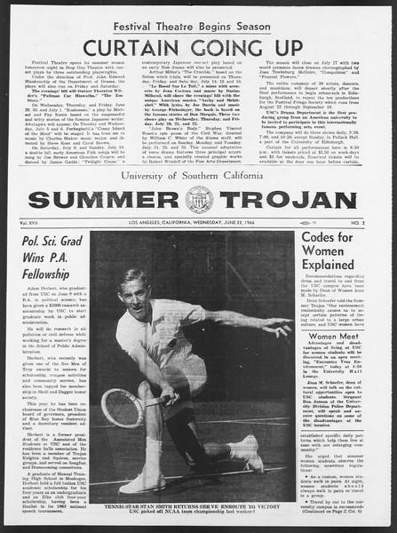 Summer Trojan, Vol. 17, No. 2, June 22, 1966