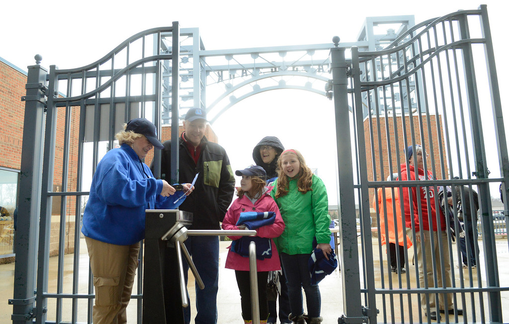 . Maribeth Joeright/MJoeright@News-Herald.com<p> Captains fans make their way into the Classic Park for the Lake County Captains home opener against the Lansing Lugnuts.