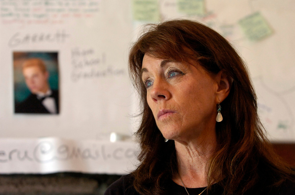 . Francine Fitzgerald, mother of missing bicyclist Garrett Hand, talks about efforts to find her son at her home in Concord, Calif. on Monday, Feb. 25, 2013. Hand and girlfriend Jamie Neal have not been heard from in a month after going missing during a bicycling trip in Peru. (Kristopher Skinner/Staff)