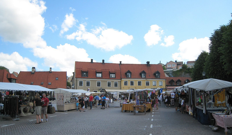 Open air market in Visby