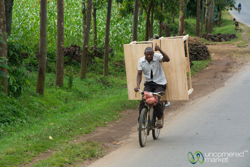 Bicycle Transport for Tables - Musanze, Rwanda
