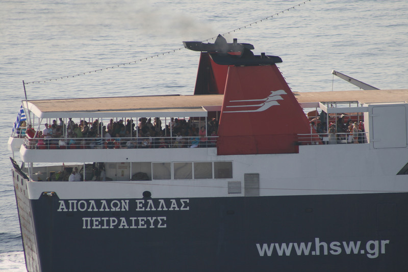 2011 - F/B APOLLON HELLAS arriving to Piraeus.