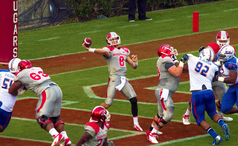 Piland passing from his end zone