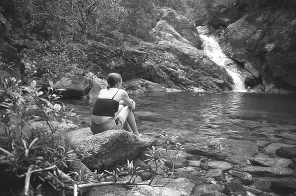 Refreshing Waterfall - Baracoa, Cuba