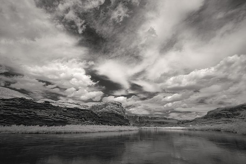Infrared, Colorado River near Moab, Utah.