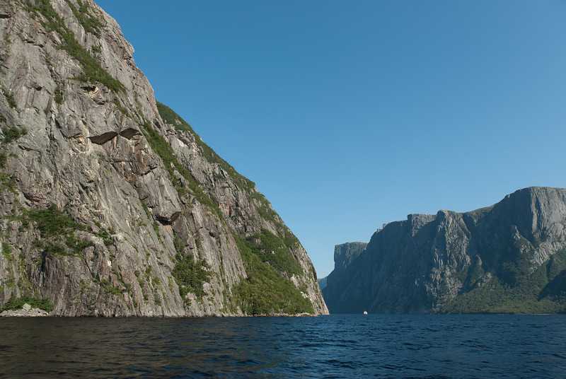 Cliffs of Gros Morne Mountain in Newfoundland, Canada