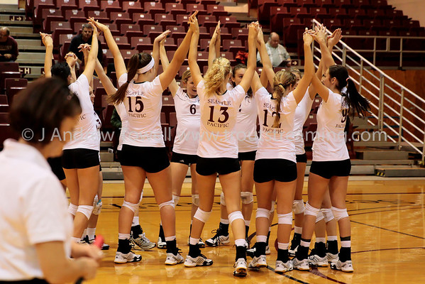 121011 Womens Volleyball Seattle Pacific University Falcons versus University of Alaska Anchorage Seawolves Snapshots