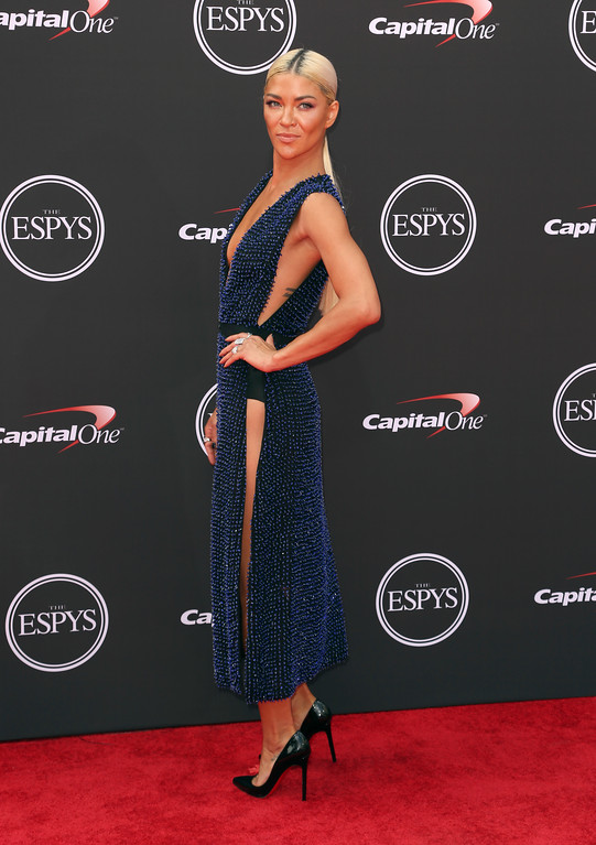 . Jessica Szohr arrives at the ESPY Awards at Microsoft Theater on Wednesday, July 18, 2018, in Los Angeles. (Photo by Willy Sanjuan/Invision/AP)