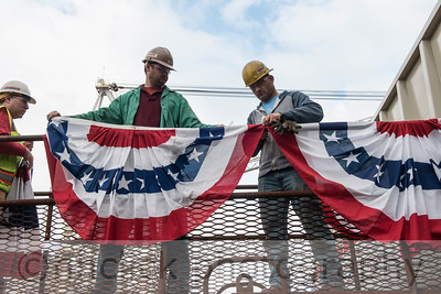 Launch of barge SDS 10 at Gunderson, 6/28/2014