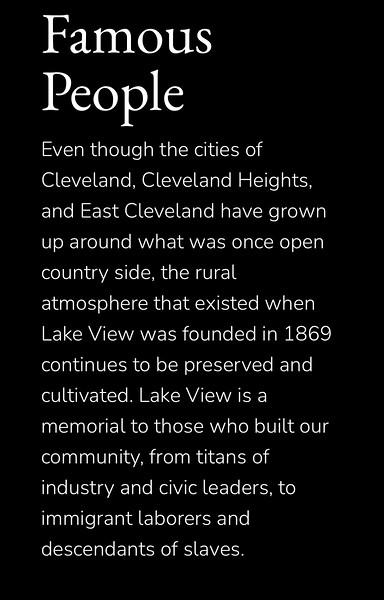Lake View Cemetery - Thur., April 22, 2021