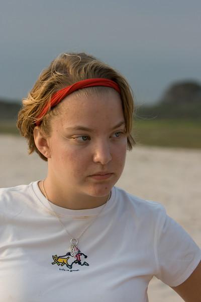 Molly on the beach.