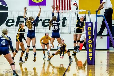 HS Sports - DeForest Volleyball - September 01, 2016