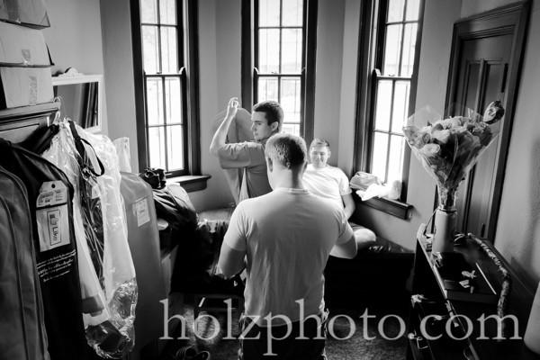 Megan and Josh B/W Wedding Photos