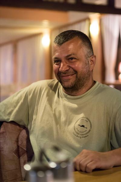 Emir at dinner in Bosanska Krupa