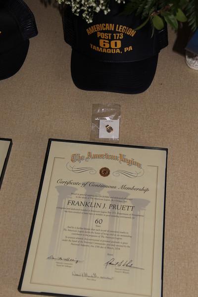 50-Year Member, Michael J. Zupko, American Legion, Tamaqua (5-26-2014)
