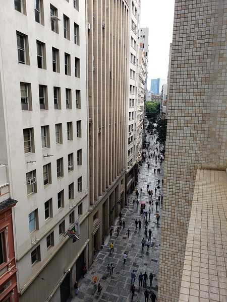 "view from the ""office"" in downtown Sao Paulo"