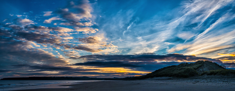 Dusk at Lunan Bay