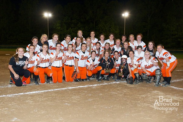 NDHS Softball 2013 Regular Season and Conference Tournament Champs
