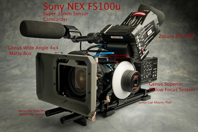 Sony NEX FS100 Super 35mm Sensor Camcorder