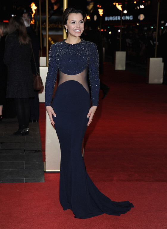 """. Actress Samantha Barks attends the \""""Les Miserables\"""" World Premiere at the Odeon Leicester Square on December 5, 2012 in London, England.  (Photo by Stuart Wilson/Getty Images)"""