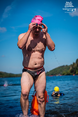 Big Welsh Swim  - Pink Hats Finish at Gilfach Ddu