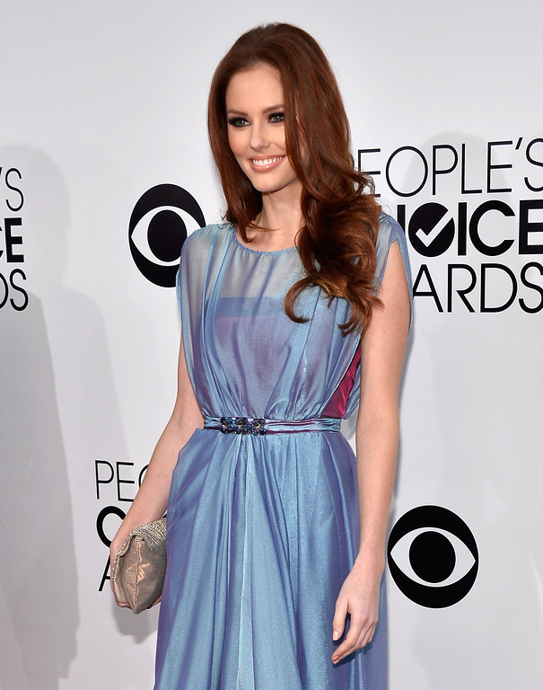 . LOS ANGELES, CA - JANUARY 08:  Miss USA 2011 Alyssa Campanella attends The 40th Annual People\'s Choice Awards at Nokia Theatre L.A. Live on January 8, 2014 in Los Angeles, California.  (Photo by Frazer Harrison/Getty Images for The People\'s Choice Awards)