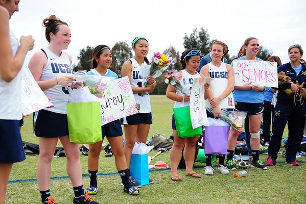 UCSD women's lacrosse Senior Recognition