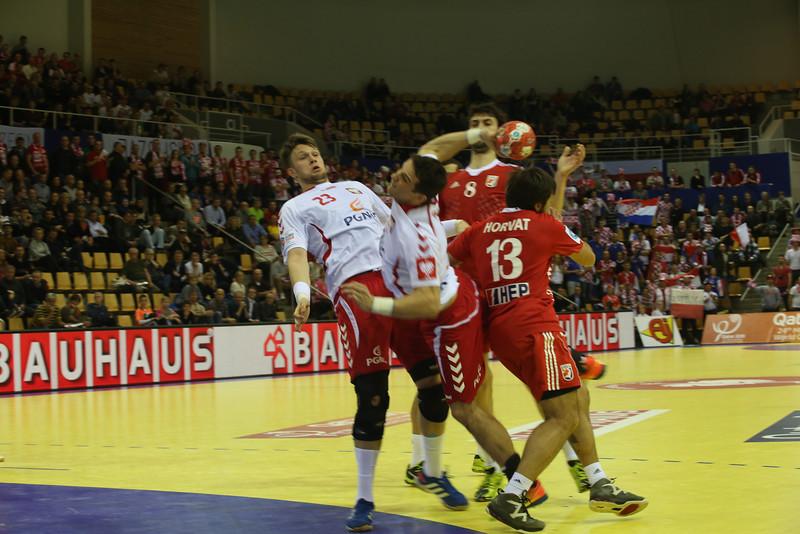 Poland Croatia, match men's EHF EURO 2014, Århus, Denmark