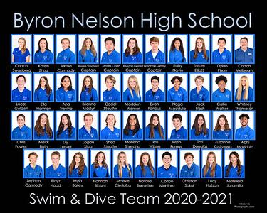 Byron Nelson Swim & Dive teams