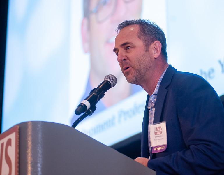 David Buckley of Phoenix Industrial accepts his award as the Business Development Professional of the Year. (Josh Kulla/DJC)